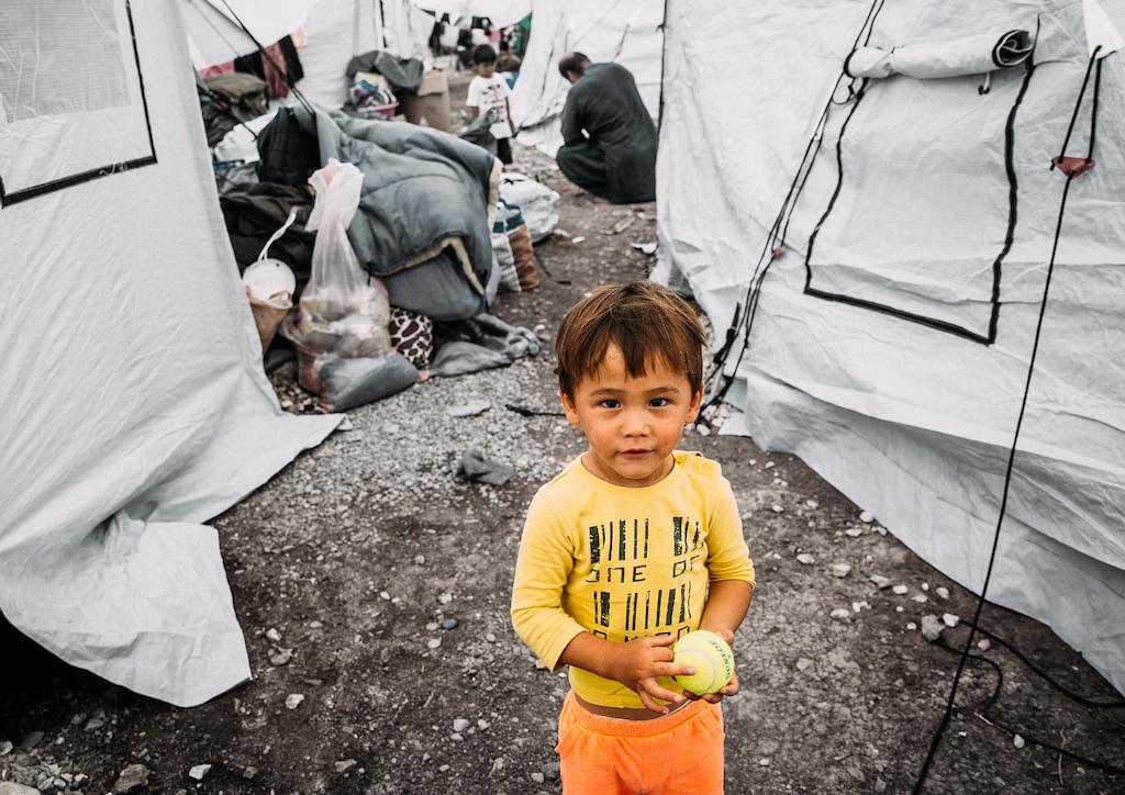 Kind in Flüchtlingslager